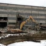 Eile alustati Viru kaevanduse hoonete lammutamist