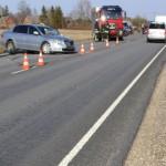 Politseiauto põhjustas maanteel avarii