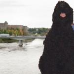 Piirivalvurid päästsid Narva sillal kokku varisenud koera