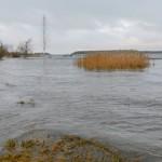 Torm ujutas Narva-Jõesuu rannikualad üle