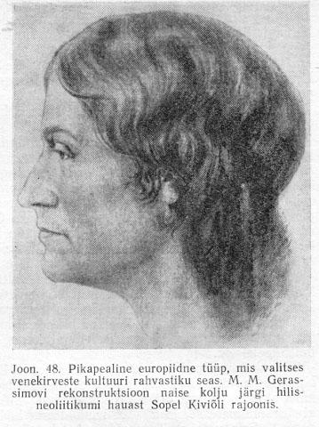 Sope naise välimuse rekonstruktsioon − autor Mihhail Gerassimov.