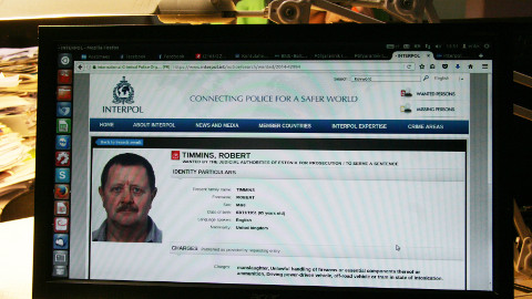 Briti kodanik Robert Timmins on tänapäevani Interpoli kodulehel tagaotsitavate isikute seas.