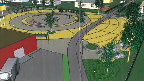 Kiviõli keskväljakule on planeeritud koos puhkekohtade ja jalgteedega ka avalik turg.