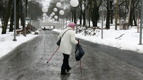Kõige rohkem on libedatel tänavatel trauma saanute seas eakaid inimesi.
