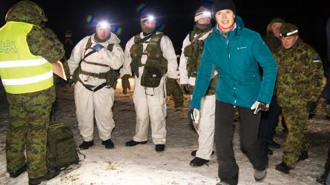 President Kersti Kaljulaid tegi Utria dessandist läbi poolekilomeetrise lõigu.