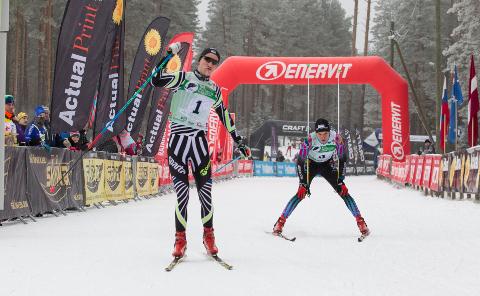 Võidu magus hetk: Martti Himma on teist aastat järjest võitnud Alutaguse maratoni põhidistantsi.