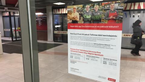 Rimi kaubanduskett reklaamib Narvas, Sillamäel ja Narva-Jõesuus ees ootavat töötajate värbamise üritust aktiivselt.