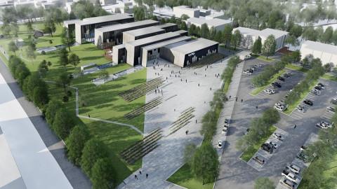 Selline näeks välja Tallinna Piritale kavandatud sisekaitseakadeemia uus kompleks. Kui valitsus langetaks järgmisel nädalal otsuse rajada see hoone pealinna, saaks see valmis 2019. aastaks.