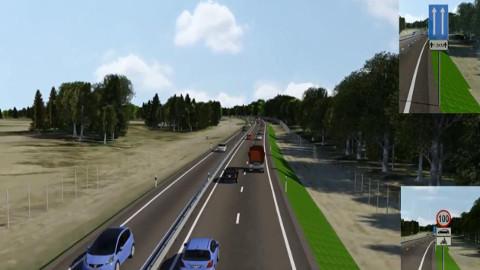 2+1 maanteel eraldatakse sõidusuunad piirdega. Lisasõidurada kavandatakse vaheldumisi mõlemas sõidusuunas.