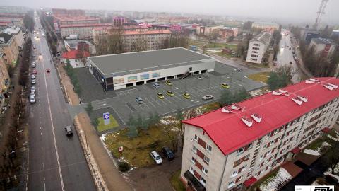 Narva tulevase Lidli kaubanduskeskuse ja sellega külgneva territooriumi eskiis.