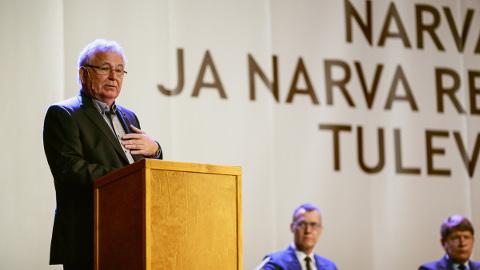 """""""Ma ei näe siin mitte Euroopa nägu, vaid midagi muud,"""" sõnas sadamaehitajast investor Tiit Vähi Narva ärikonverentsil."""
