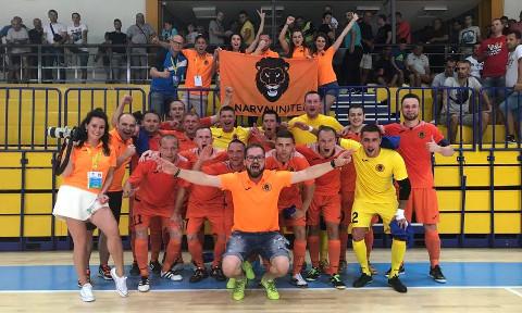 Narva Unitedi saalijalgpallimeeskond tuli tänavu esimest korda Eesti meistriks ning võitis ka eurosarja alagrupiturniiril ühe kohtumise.